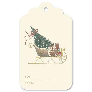 Santa's Sleigh Gift Tag