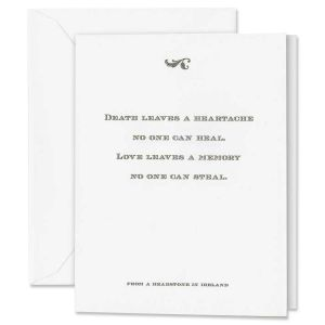 Heartache Quotation Sympathy Card