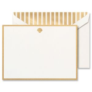 Shell Bordered Correspondence Cards Boxed Set
