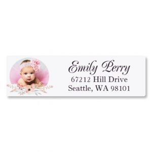 Floral Classic Photo Custom Address Labels