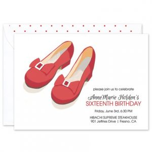 Red Slippers Invitation