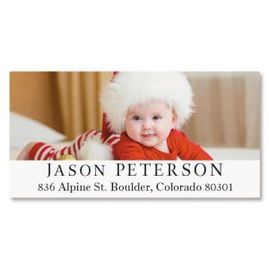Classic Deluxe Photo Custom Address Labels