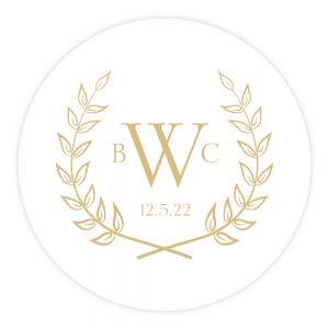 Customized Letterpress Coasters Olive Branches
