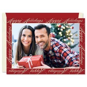 Happy Holidays Mounted Photo Card
