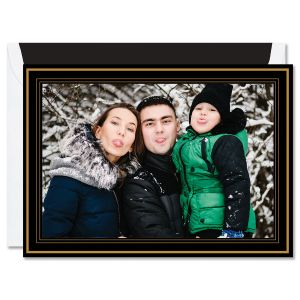 Black and Gold Mounted Photo Card