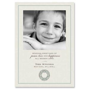 Paisley Blue Photo Card
