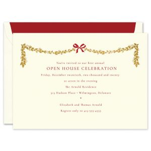 Bow and Garland Invitation