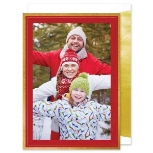 Gold Foil Frame Photo Card