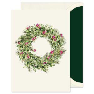 Ecru Wreath Greeting Card