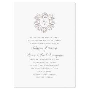 Circle Scroll Invitation