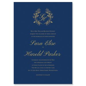 Navy Sallient Invitation