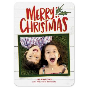 Christmas Joy Holiday Photo Card