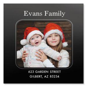 Personalized Modern Large Square Photo Address Label