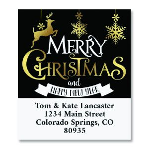 Festive Holiday Select Christmas Custom Address Labels