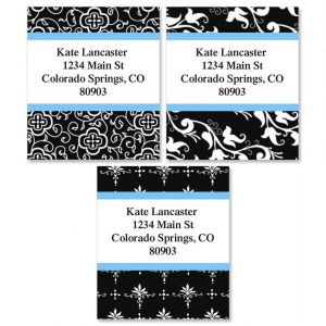 Black Elegance Select Address Labels   (3 Designs)