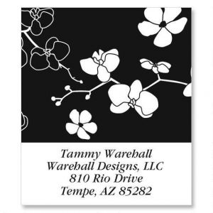 Onyx Blossom Select Address Labels