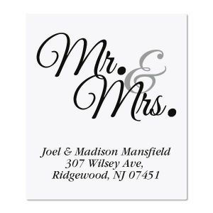 Mr. & Mrs. Select Address Labels
