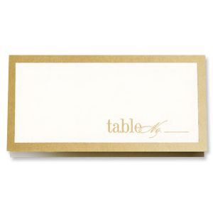 Beaded Border Place Card