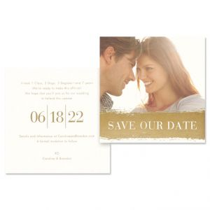 Gold Brush Save the Date