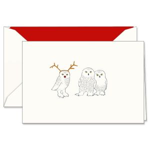 Engraved Snowy Parilament Holiday Greeting Cards Boxed Set