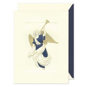Trumpeting Angel Greeting Card