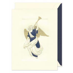 Trumpeting Angel Greeting Card