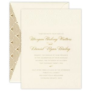 Regal Corners Rose Gold Large Square Invitation
