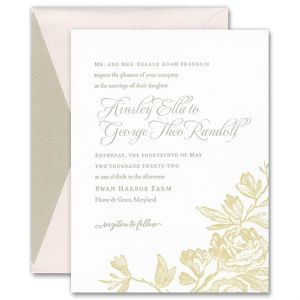 Ainsley Antique Roses Invitation