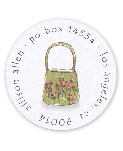 Tiny Flower Purse Label