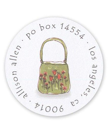 Tiny Flower Purse Label