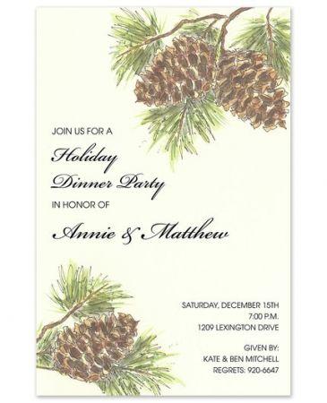 Woodland Pine Invitation