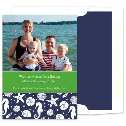 Jetties Navy Photo Card