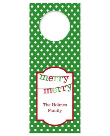Banner Merry Merry Wine Tag