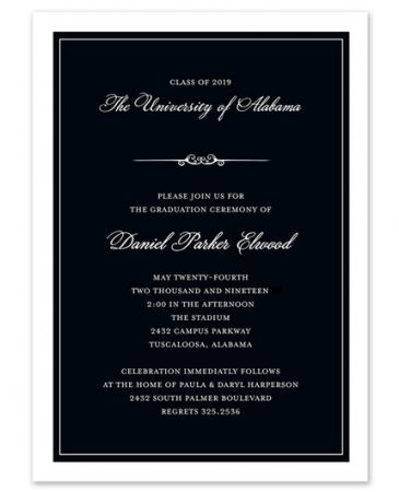 Formal Black Invitation