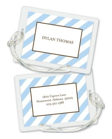 Blue Stripe Luggage Tag