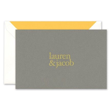Gray Note Card