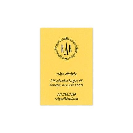 Lemon Drop Calling Card