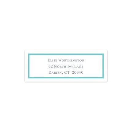 Teal Border Address Label