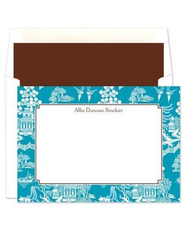 Chinoiserie Flat Card