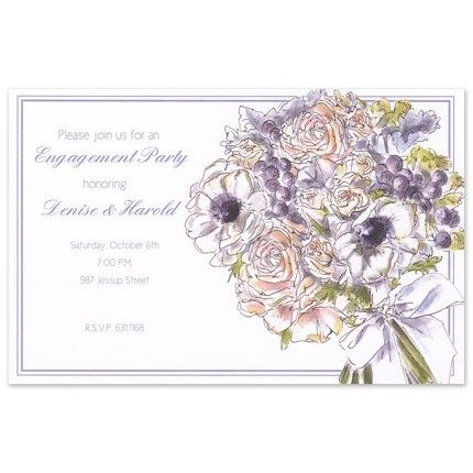 Lush Bouquet Invitation