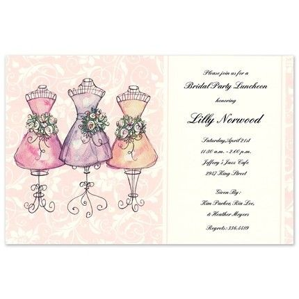 Mannequin Maids Invitation