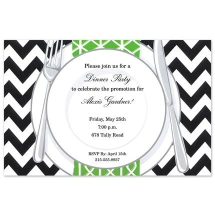 Chevron Plate Invitation