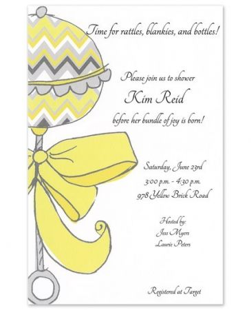 Chevron Rattle Invitation