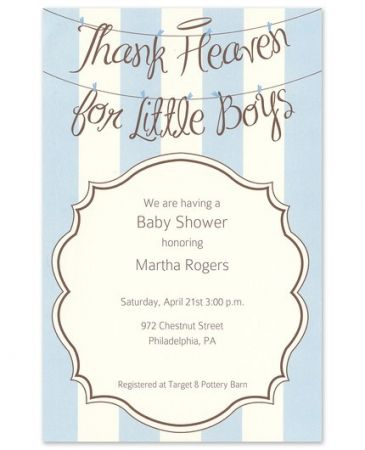Angel Boys Invitation