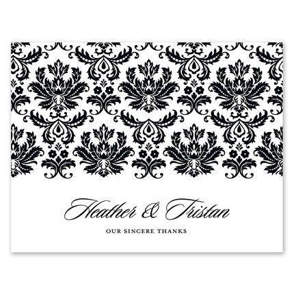 Damask Note Card