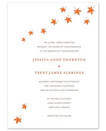 Autumn Leaves Invitation