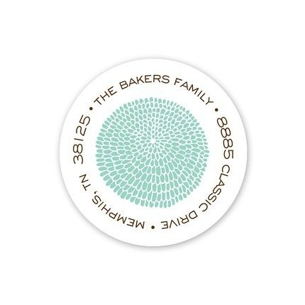 Petals De Mer Address Label