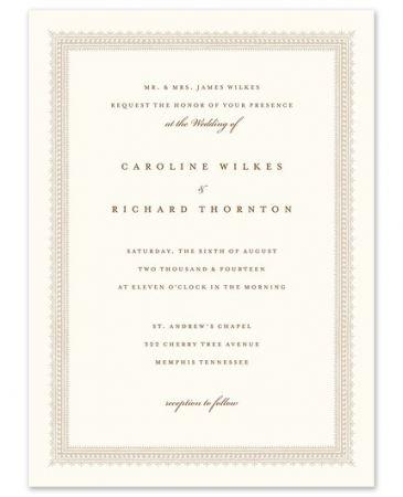 Elegant Border Invitation