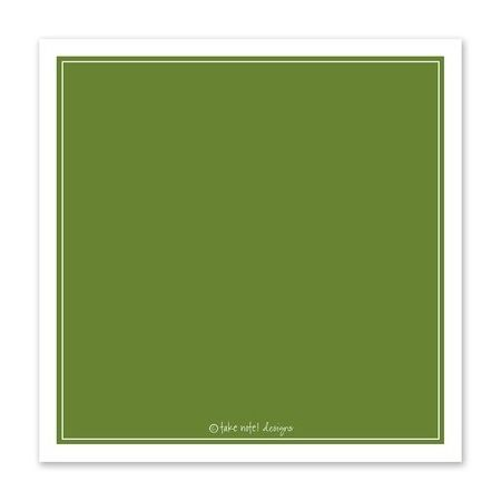 Green Flourish Greeting Card