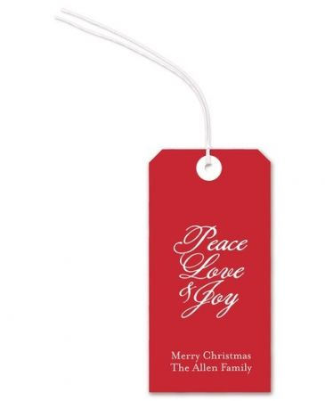 Red Gift Tag